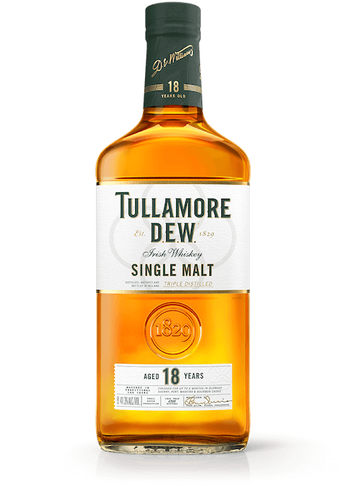 18 YEAR OLD SINGLE MALT TULLAMORE DEW IRISH WHISKEY